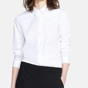 Theory | Larissa White Stretch Cotton Button Down